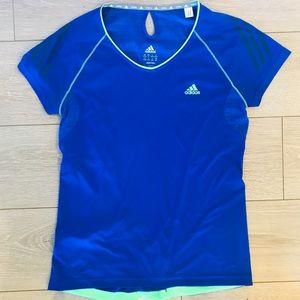 Adidas climalite cobalt blue running shirt medium